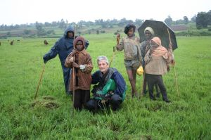Local guides helping Pierre during the rainy season, July 2010