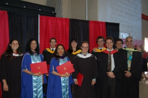 L-R Geri Blinick, MA; Anita Kushwaha, PhD; Ryan Zanatta, MSc; Ravinder Virk, PhD; Courtney Steele, MSc; Chris Bisson, MA; Will Parkinson, MSc; Faculty members - Doug King, Murray Richardson, Steve Prashker
